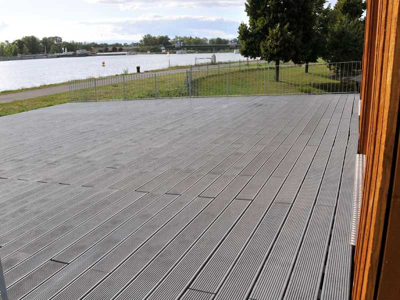 Plastic decking for Recycled plastic decking