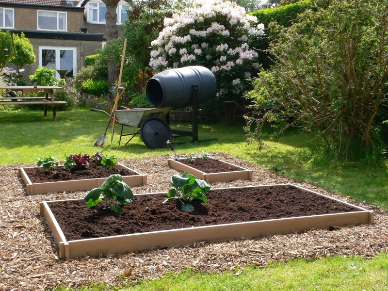 Our recycled plastic raised beds are available in small, medium and ...