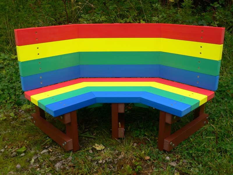 Children's Buddy Bench in Mahogany Recycled Plastic