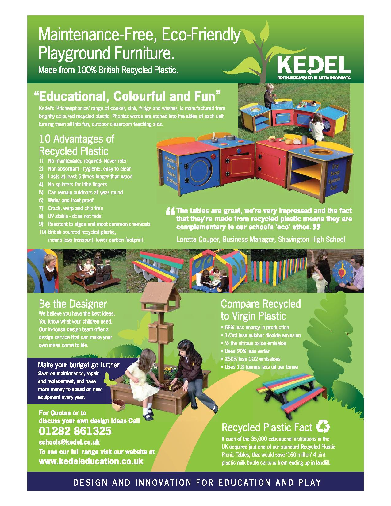 Recycled Plastic Playground Furniture Leaflet