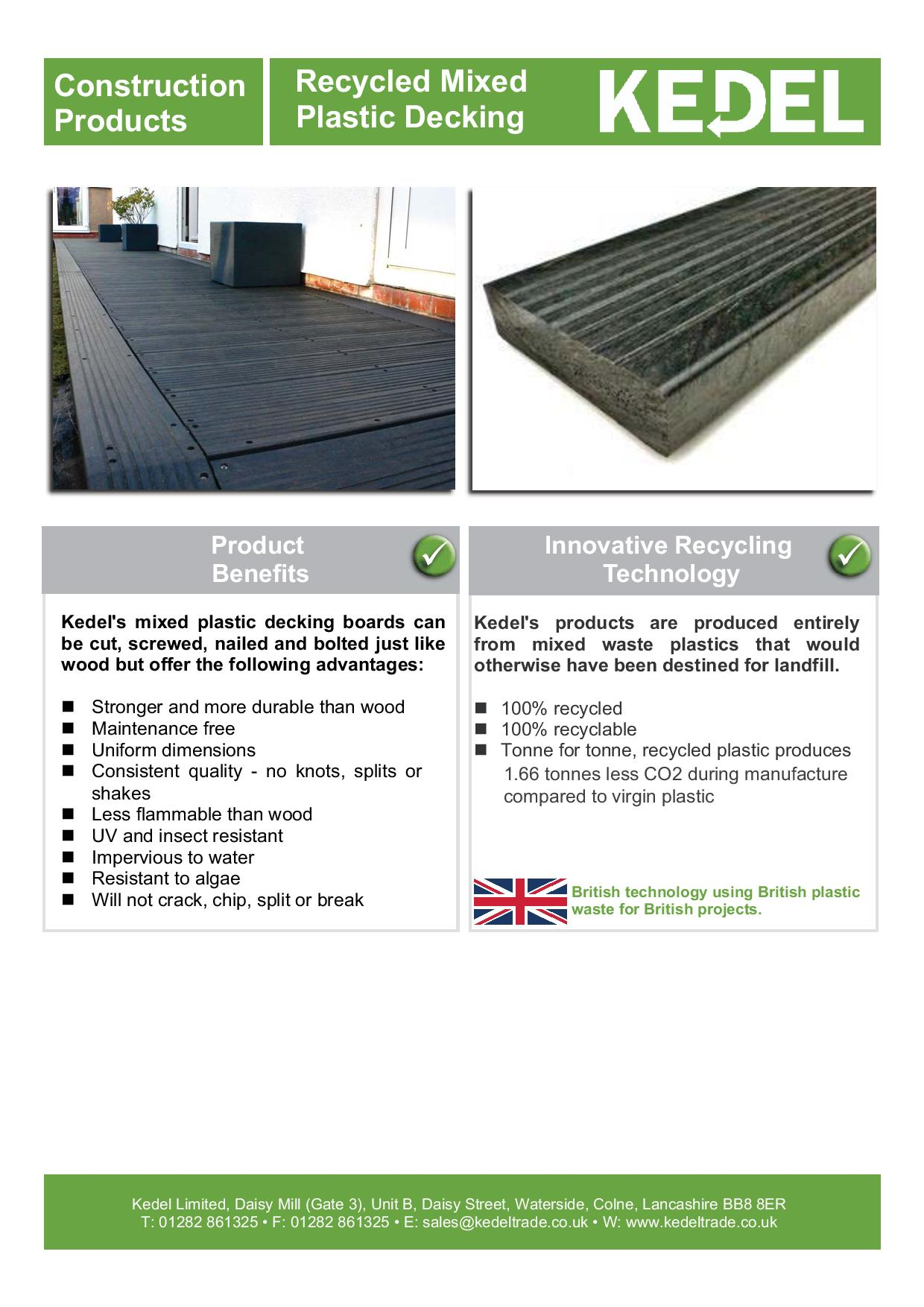 Recycled plastic decking leaflet