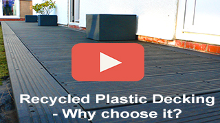 Recycled Plastic Decking Maintenance-free Cost effective Kedel