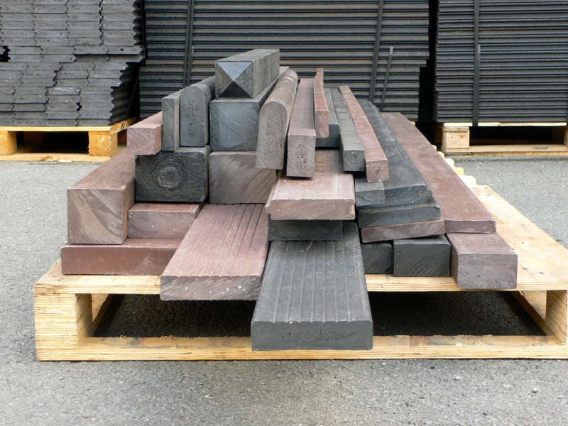 Recycled plastic lumber mixed plastics 150 x 50mm trade for Recycled plastic decking