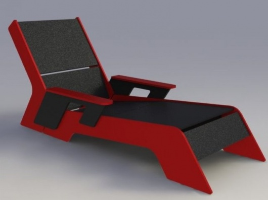 Amazon Lounger - recycled plastic designer