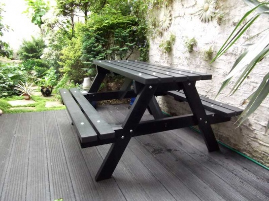 Recycled Plastic Picnic Table Garden Table Traditional