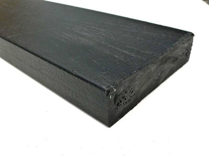 Recycled plastic lumber mixed plastics batten 100 x for Recycled plastic decking