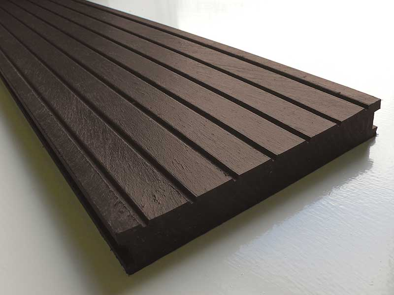 recycled mixed plastic decking 195 x 28mm trade