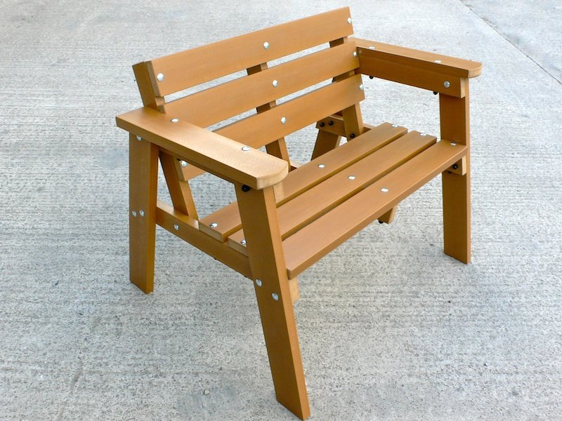 Thames Garden Bench 2 Seater Recycled Plastic Wood Trade