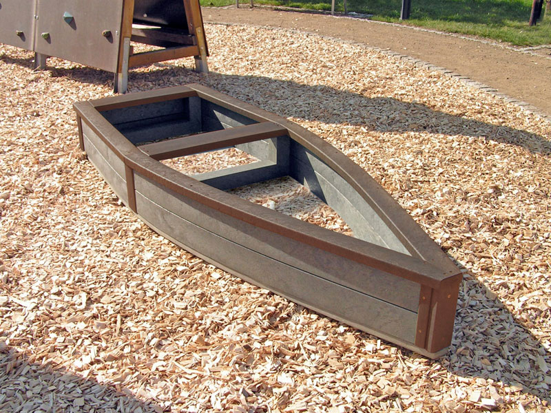 Children 39 s recycled plastic adventure ship sand box for Boat mailbox