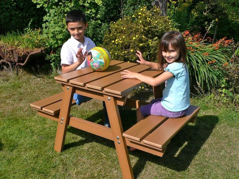 Kids Childrens Picnic Table Recycled Plastic Trade
