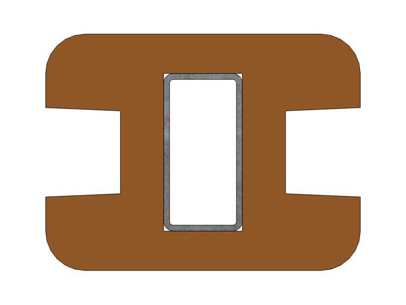 Recycled Mixed Plastic Tongue And Groove 130 X 38mm