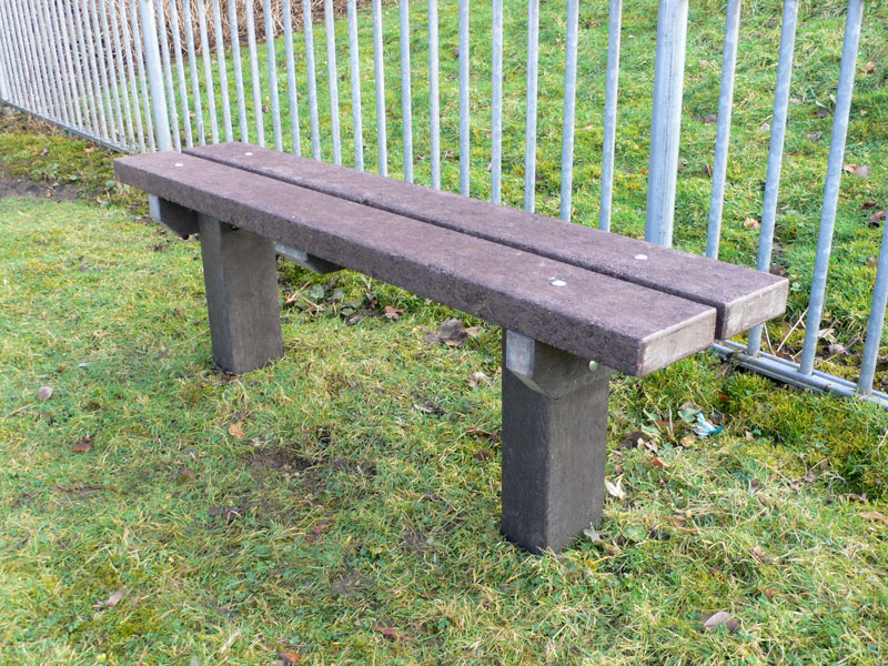 The spey bench recycled plastic seat extended legs trade for Outdoor plastic bench seats