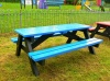 Colour: Blue seats and top,  Dimensions: (L)1500 x (W)1100 x (H)610 x (SH)360mm