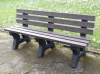 Irwell 4 seater recycled plastic garden bench
