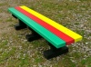 Colour: Multicoloured Slats/Black Base,  Size: (L)1200 x (W)310 x (H)305 x (SH)305mm