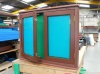 Colour: Mahogany,  Dimensions: (W)1090 x (H)690 x (D)100mm x (Post H)2150