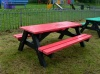 Colour: Red seats and top,  Dimensions: (L)1500 x (W)1100 x (H)610 x (SH)360mm