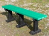 Colour: Green Slats/Black Legs,  Size: (L)1500 x (W)310 x (H)490 x (SH)490mm