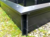 Delux Raised Bed with Seat Surround - British Recycled Plastic