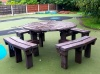 Colour: Brown,  Type: Junior, Age 8-11 Table (H)640mm - Seat (H)380mm