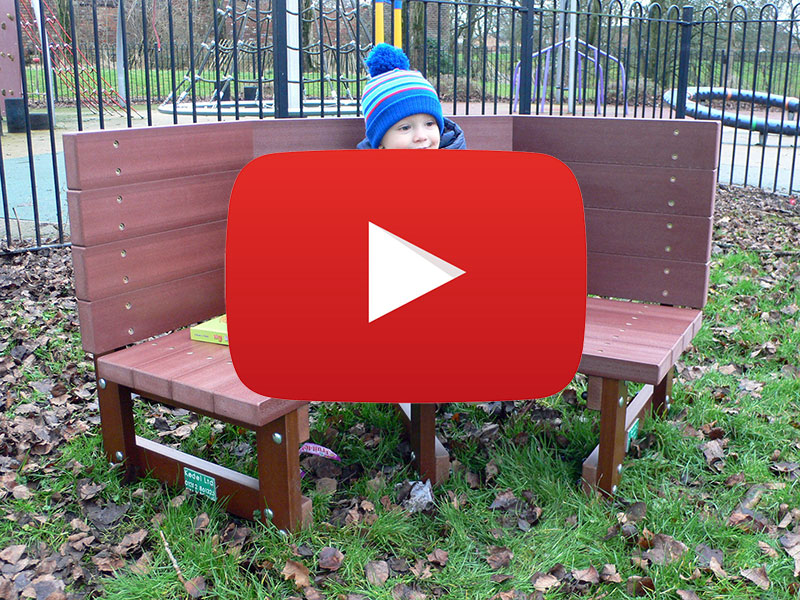 Recycled Plastic Buddy Bench from Kedel Limited - Video