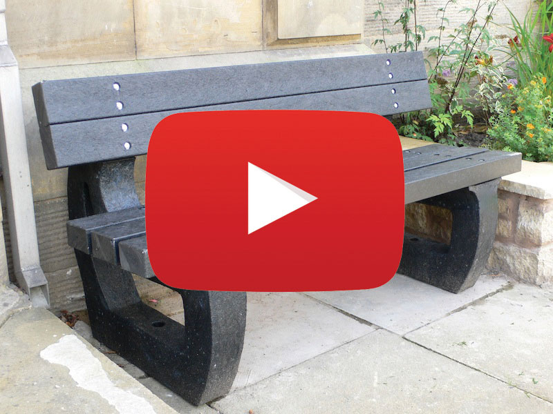 Recycled Plastic Colne Bench Video from Kedel Limited