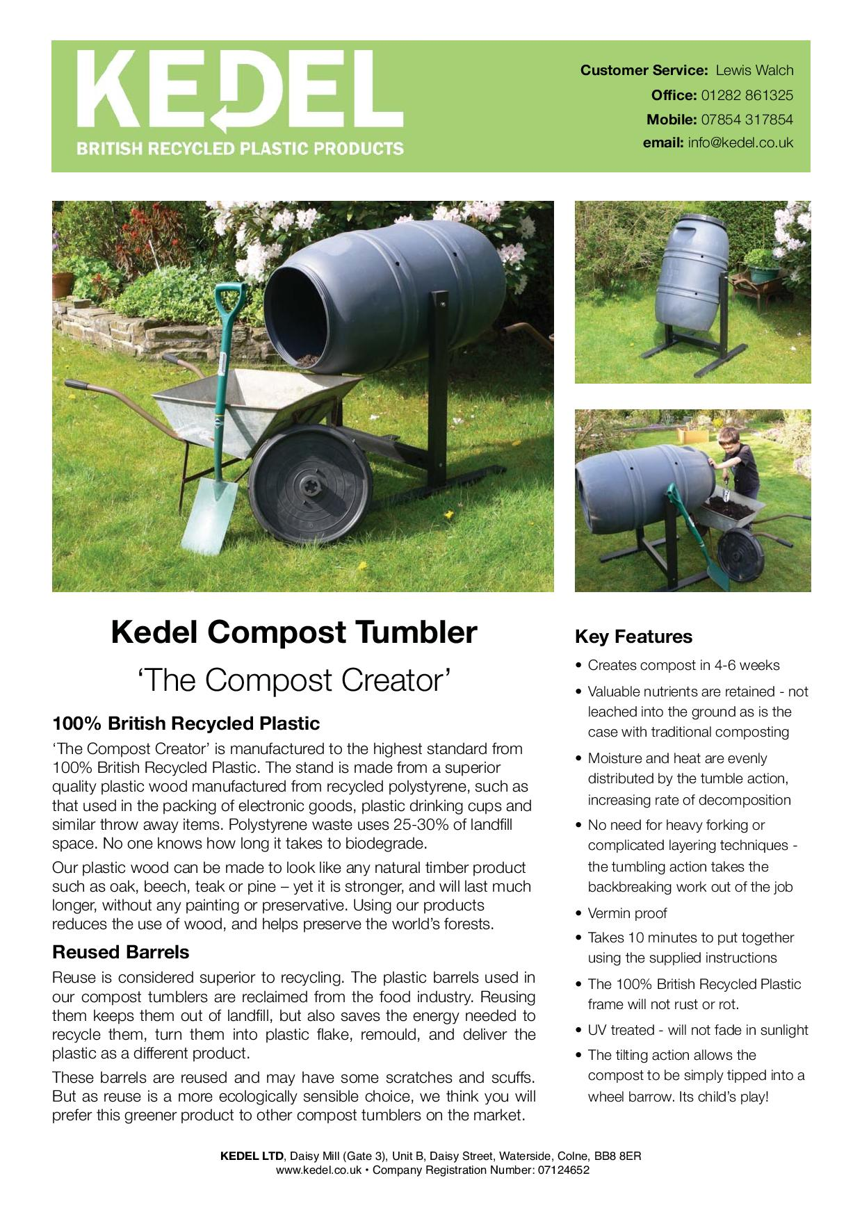 Compost Tumbler Key Advantages & How to use guide-page-001