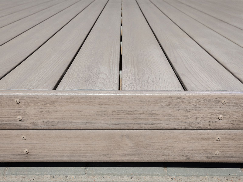 Recycled plastic decking is identical to wood trade for Recycled decking material