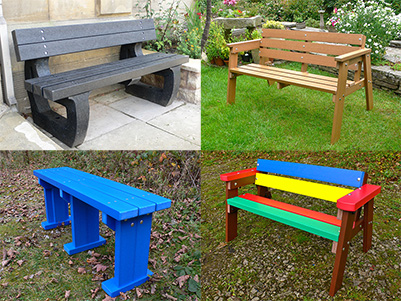 Recycled Plastic Benches from kedel Limited
