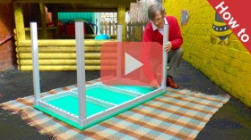 How to assemble eco bench and table kedel