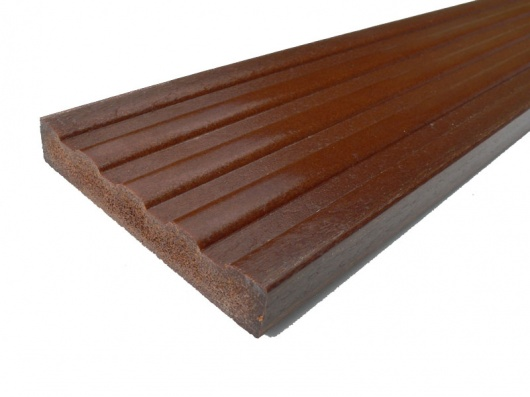 Plastic wood decking 120 x 20mm x 3m trade for Hardwood decking supply