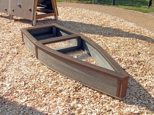 Children's Recycled Plastic Adventure Ship | Sand Box/Raised Bed