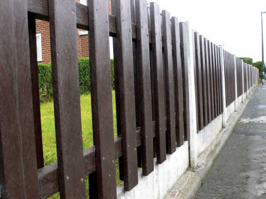 Garden Fence Panel - Recycled Plastic - Heavy Duty