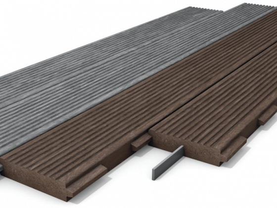 Recycled Mixed Plastic Footpath Planks Reinforced 170 x 40
