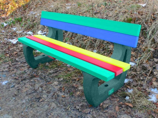 Colne Rainbow Garden Bench | Multicoloured Recycled Plastic
