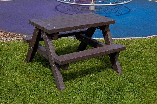 Ribble Junior Picnic Table Recycled Plastic Heavy Duty Trade
