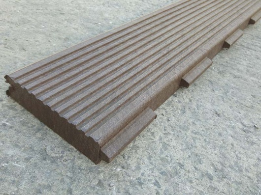 Recycled mixed plastic footpath planks reinforced 197 x 40 for Recycled decking material