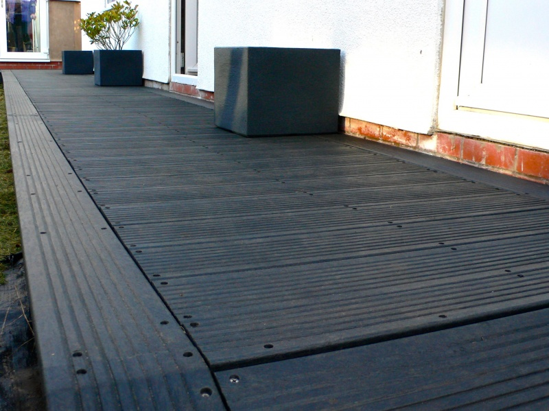 Recycled Mixed Plastic Lumber - Marine Decking - 150 x 27mm x 3.6m