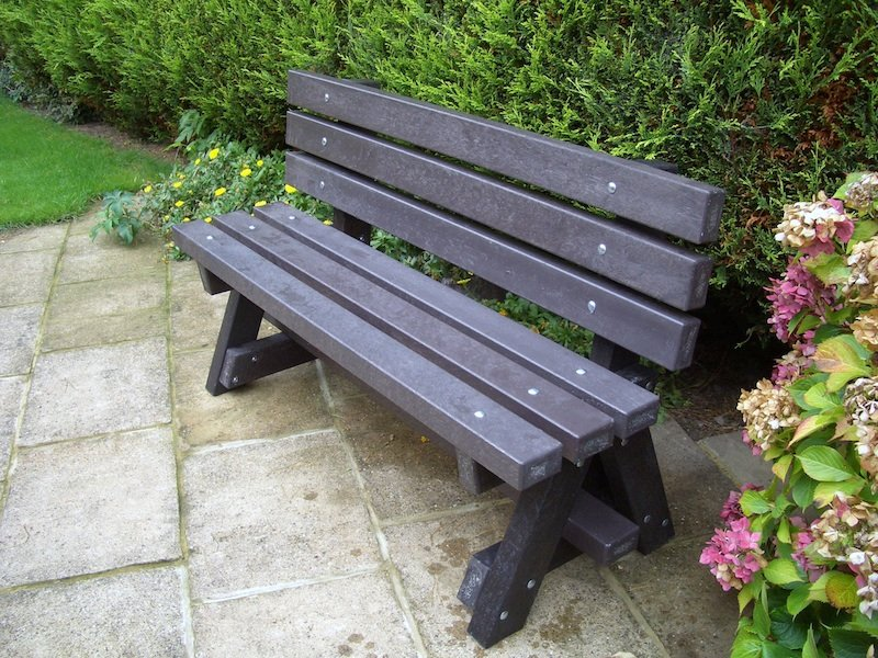 Ribble Garden bench - with backrest