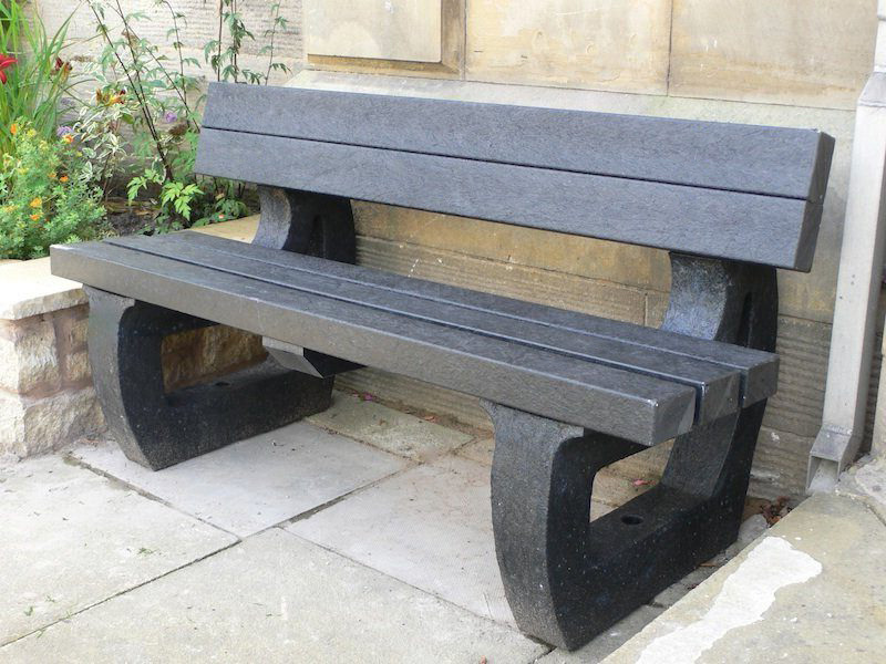 Recycled Plastic Garden Bench 3 Seater Colne By Kedel Trade