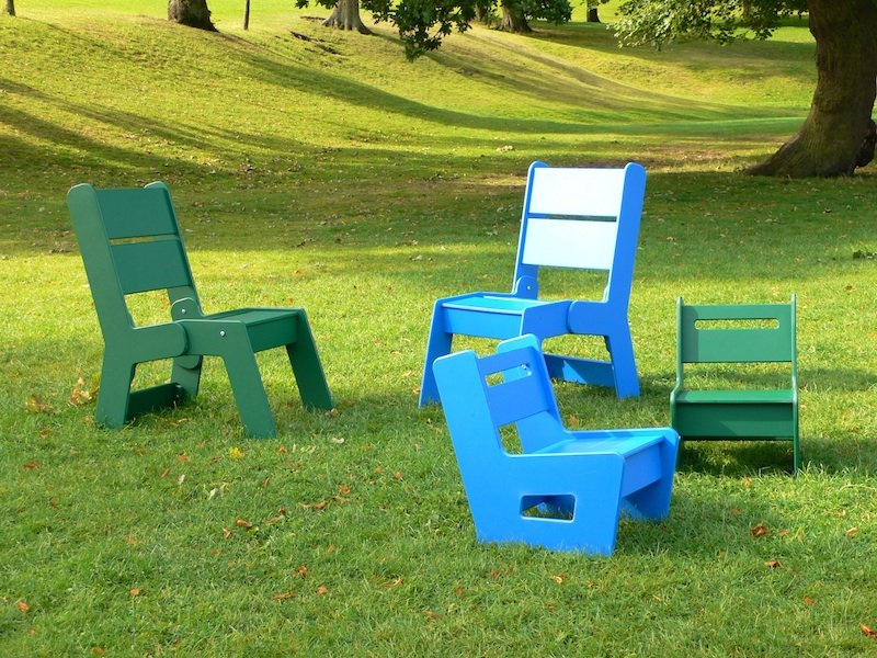 Kids garden chair recycled plastic beipan trade for Childrens garden chairs