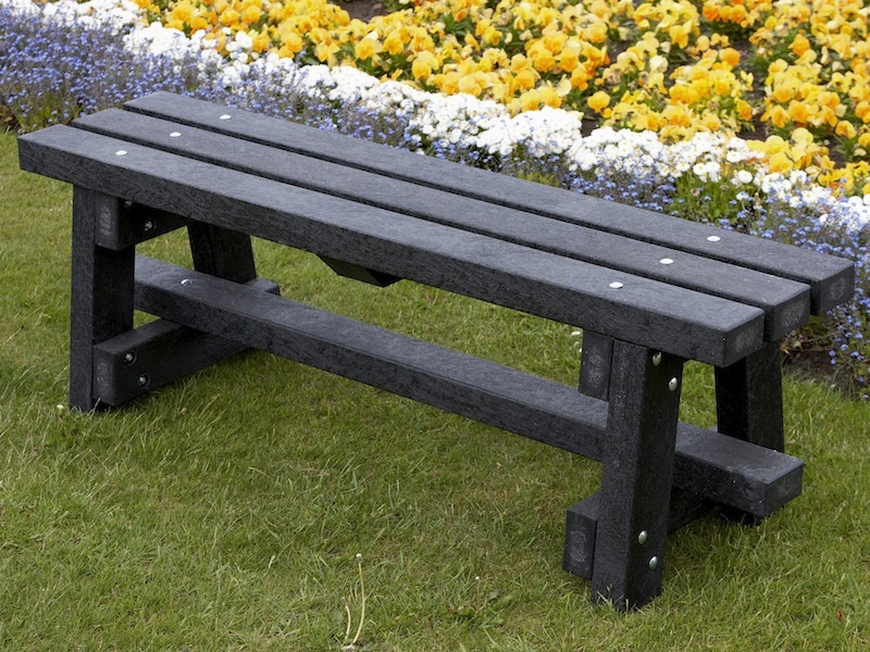 Ribble Bench Without Backrest Recycled Plastic Trade