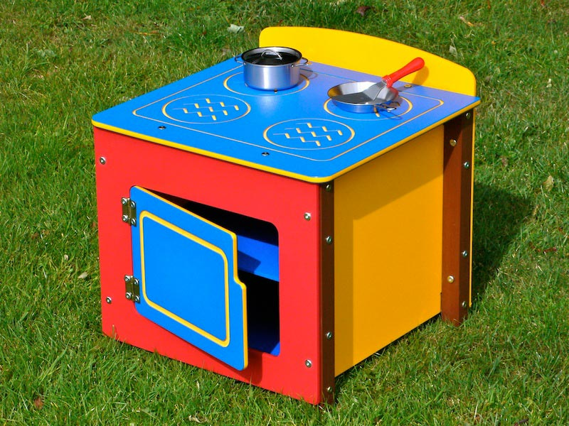 Children's Multicoloured Recycled Plastic Play Cooker Unit