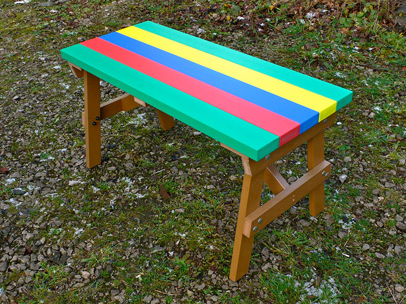 Thames Childu0027s Multicoloured Outdoor Table   Recycled Plastic