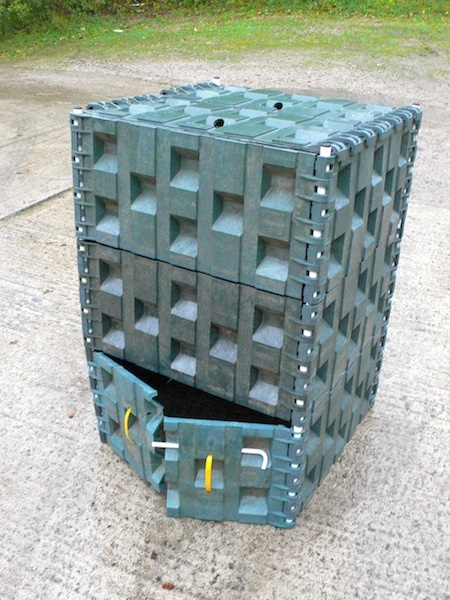the borg composter compost bin recycled plastic expandable