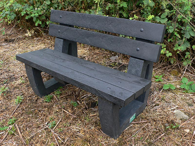 Recycled Plastic 2 Seater Garden/Park Bench | Bradley