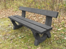 Clyde 4 seater bench - 100% recycled plastic